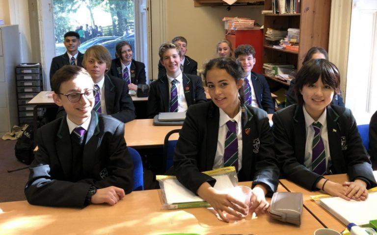Westbourne Senior pupils smiling